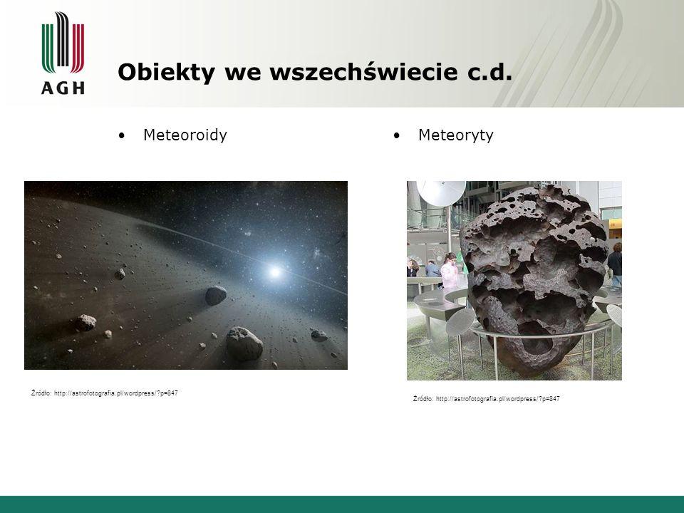 Obiekty we wszechświecie c.d.