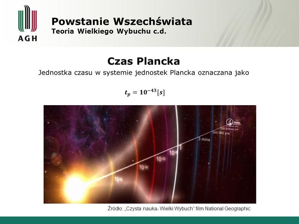 Powstanie Wszechświata Teoria Wielkiego Wybuchu c.d.