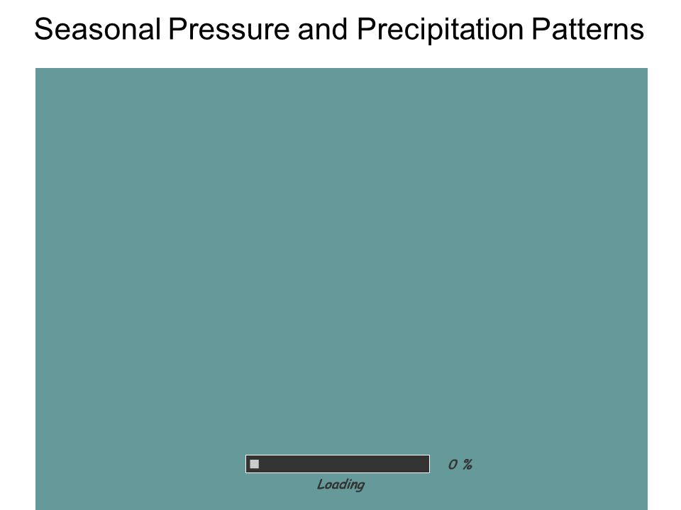 Seasonal Pressure and Precipitation Patterns