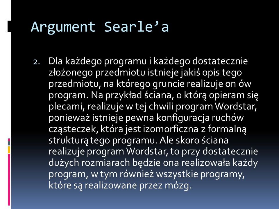 Argument Searle'a