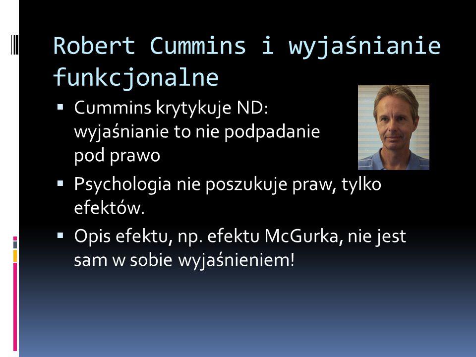 Robert Cummins i wyjaśnianie funkcjonalne