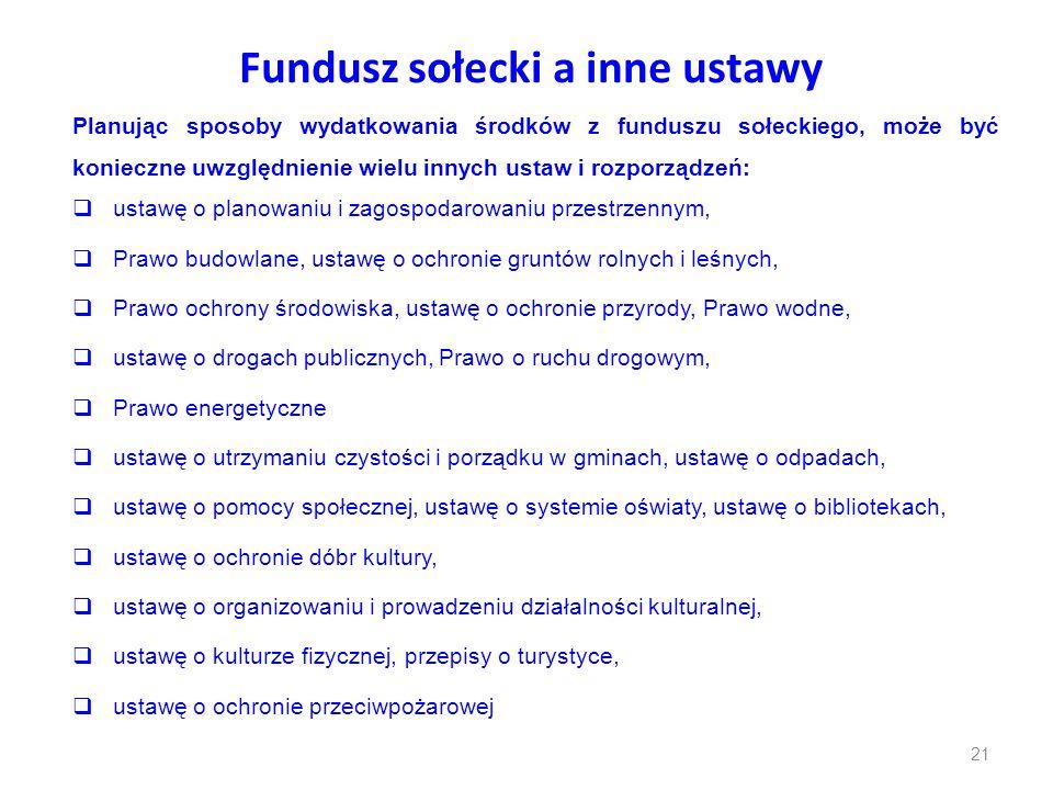 Fundusz sołecki a inne ustawy