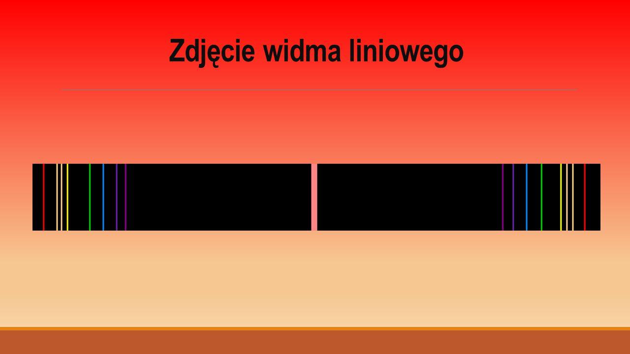 Zdjęcie widma liniowego