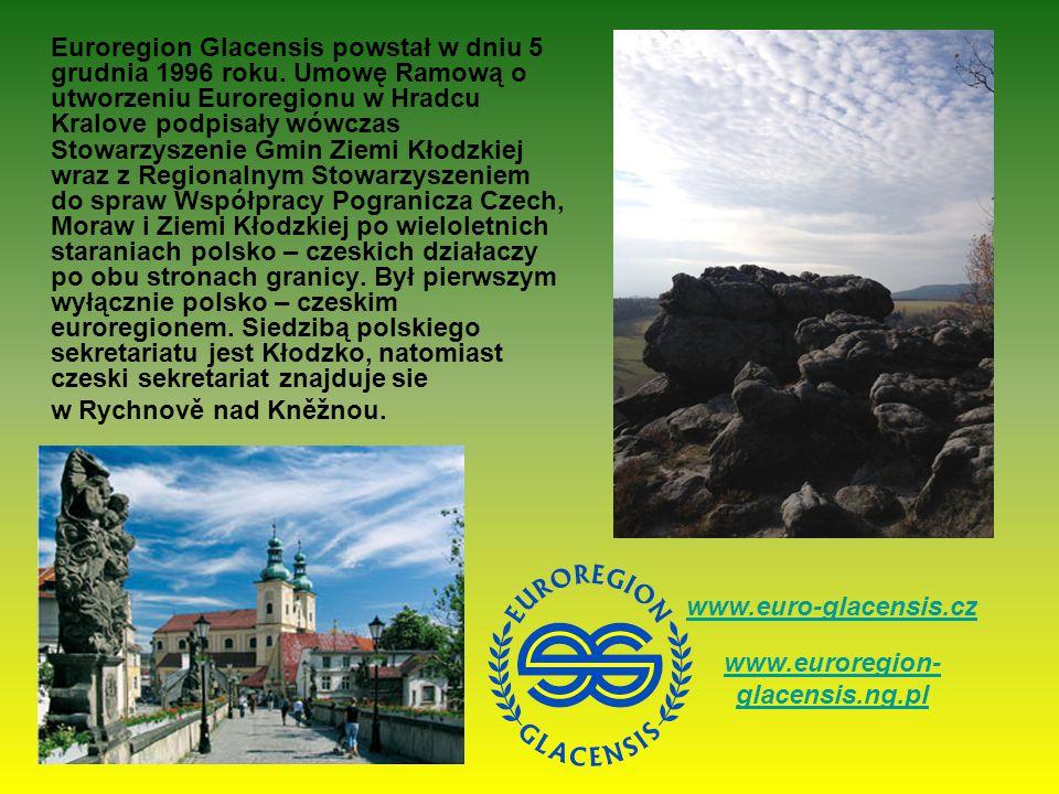 Euroregion Glacensis powstał w dniu 5 grudnia 1996 roku