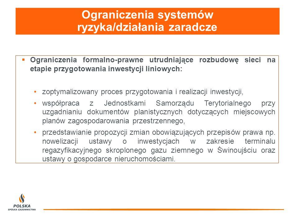 Ograniczenia systemów ryzyka/działania zaradcze