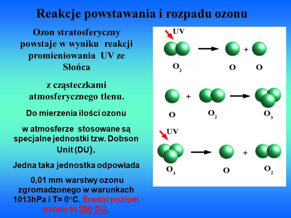 Reakcje powstawania i rozpadu ozonu