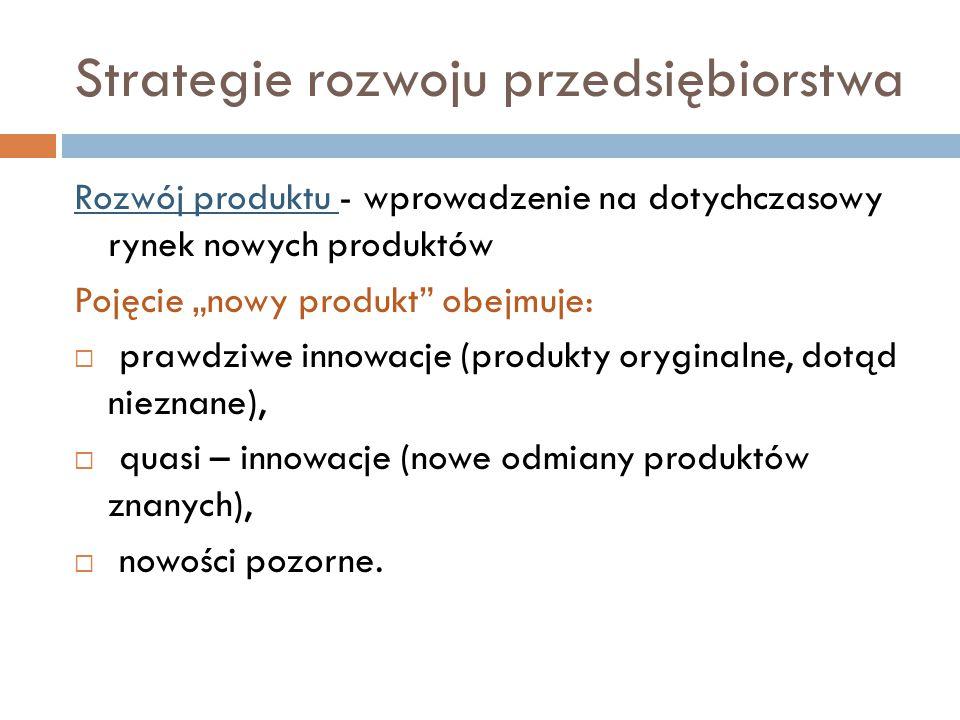 Strategie rozwoju przedsiębiorstwa