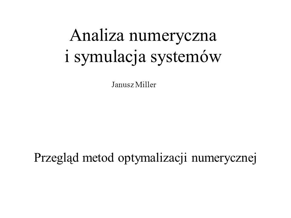 Analiza numeryczna i symulacja systemów