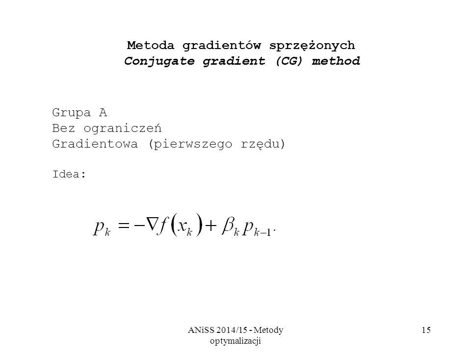 Metoda gradientów sprzężonych Conjugate gradient (CG) method