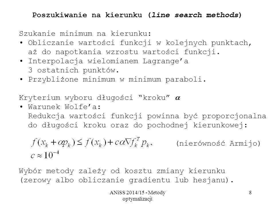 Poszukiwanie na kierunku (line search methods)