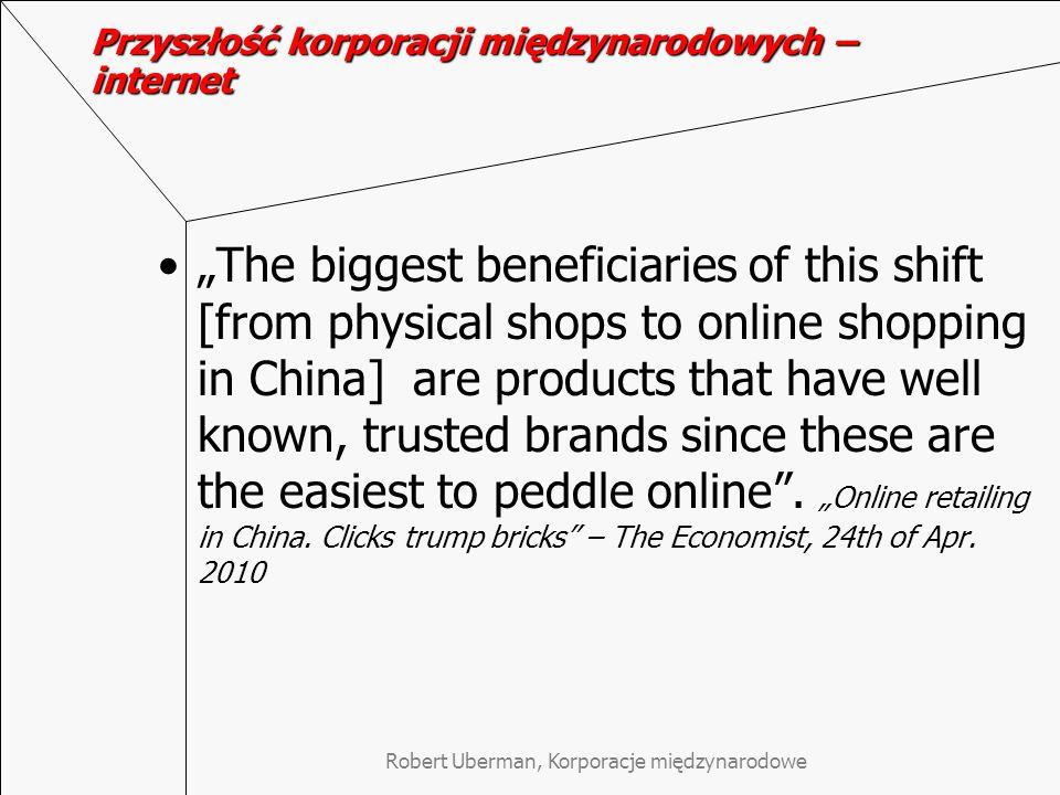 Przyszłość korporacji międzynarodowych – internet