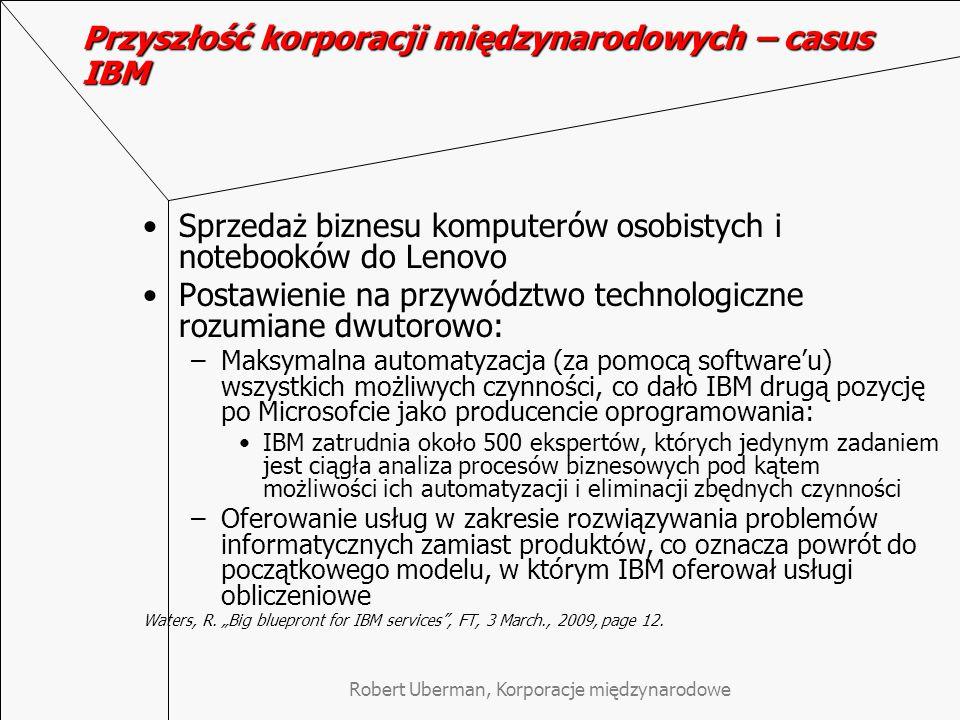 Przyszłość korporacji międzynarodowych – casus IBM