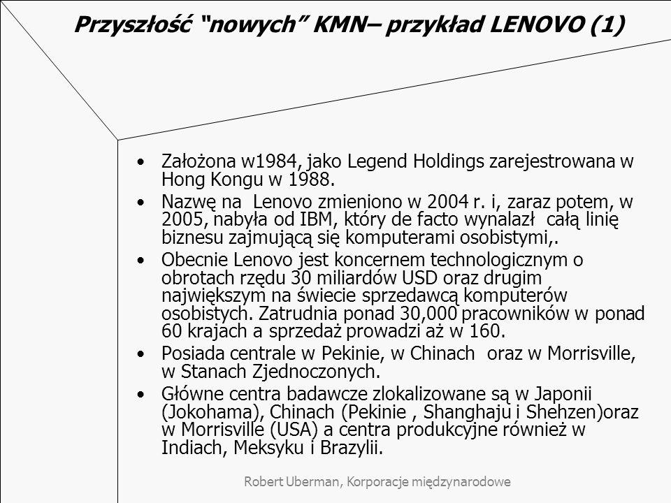 Przyszłość nowych KMN– przykład LENOVO (1)