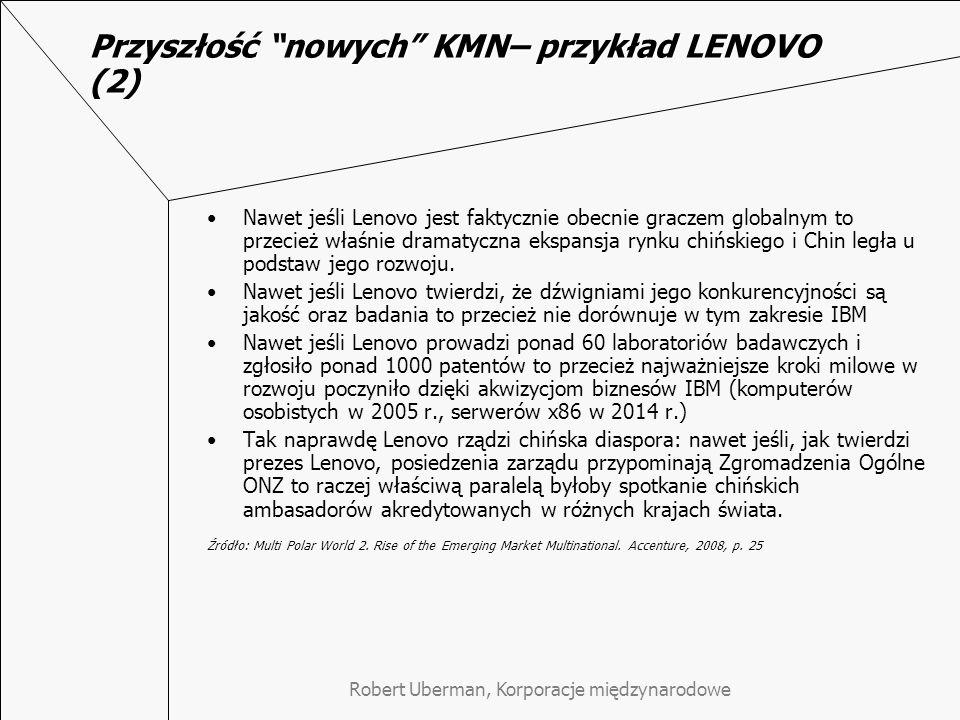 Przyszłość nowych KMN– przykład LENOVO (2)