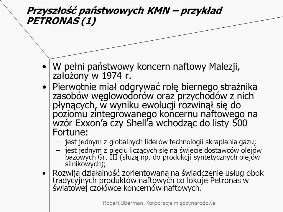 Przyszłość państwowych KMN – przykład PETRONAS (1)