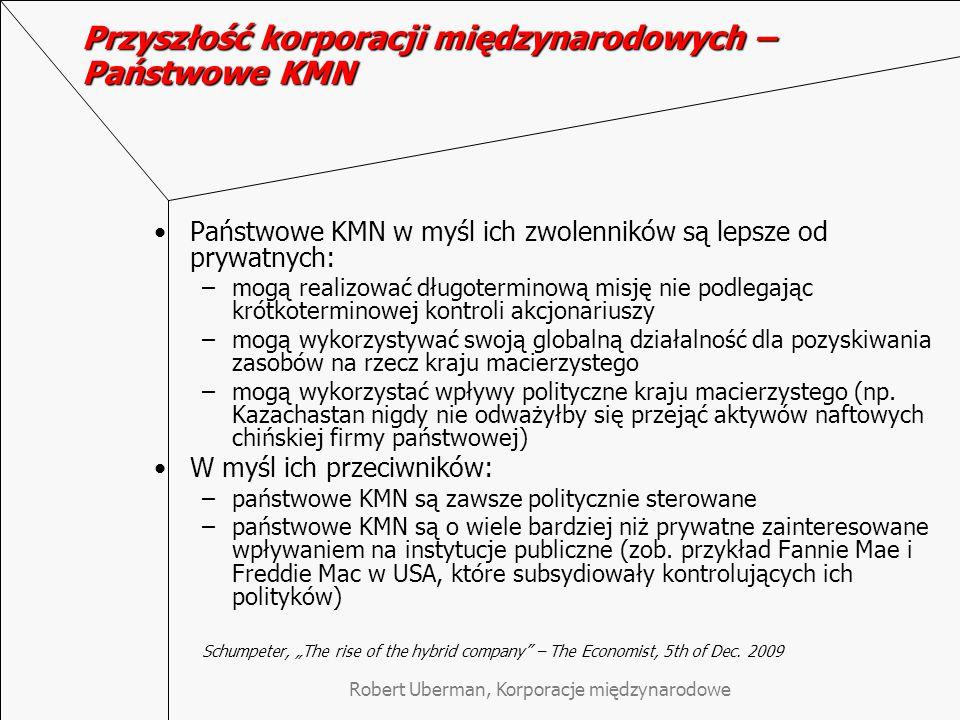 Przyszłość korporacji międzynarodowych – Państwowe KMN