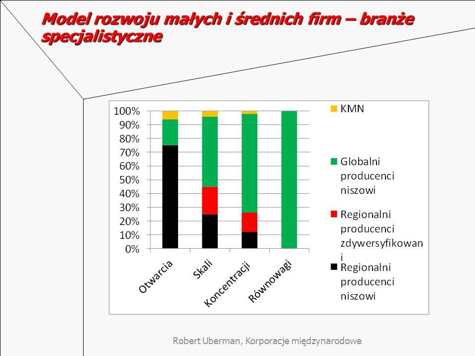 Model rozwoju małych i średnich firm – branże specjalistyczne