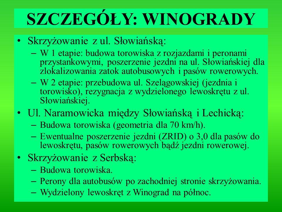SZCZEGÓŁY: WINOGRADY Skrzyżowanie z ul. Słowiańską:
