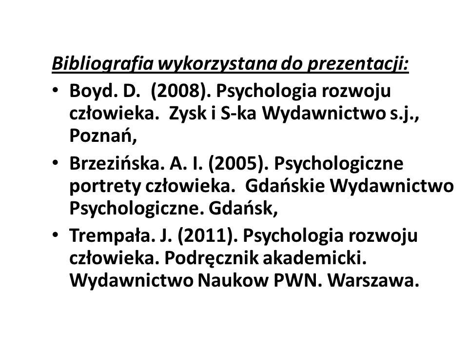 Bibliografia wykorzystana do prezentacji: