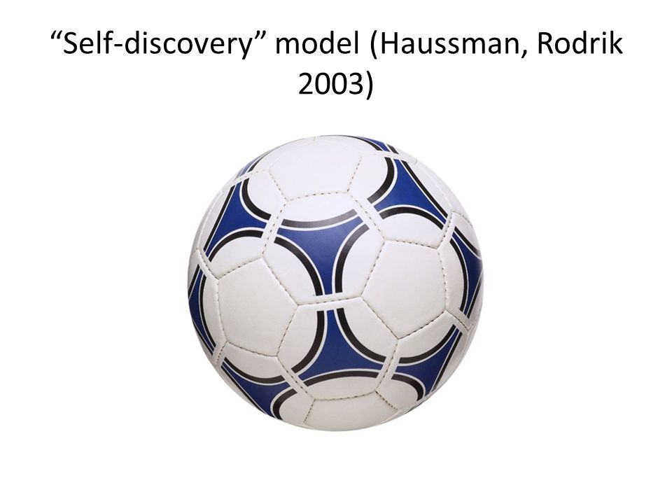 Self-discovery model (Haussman, Rodrik 2003)