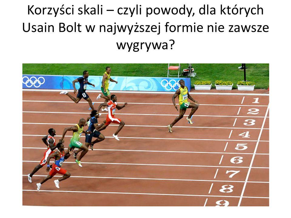 Korzyści skali – czyli powody, dla których Usain Bolt w najwyższej formie nie zawsze wygrywa