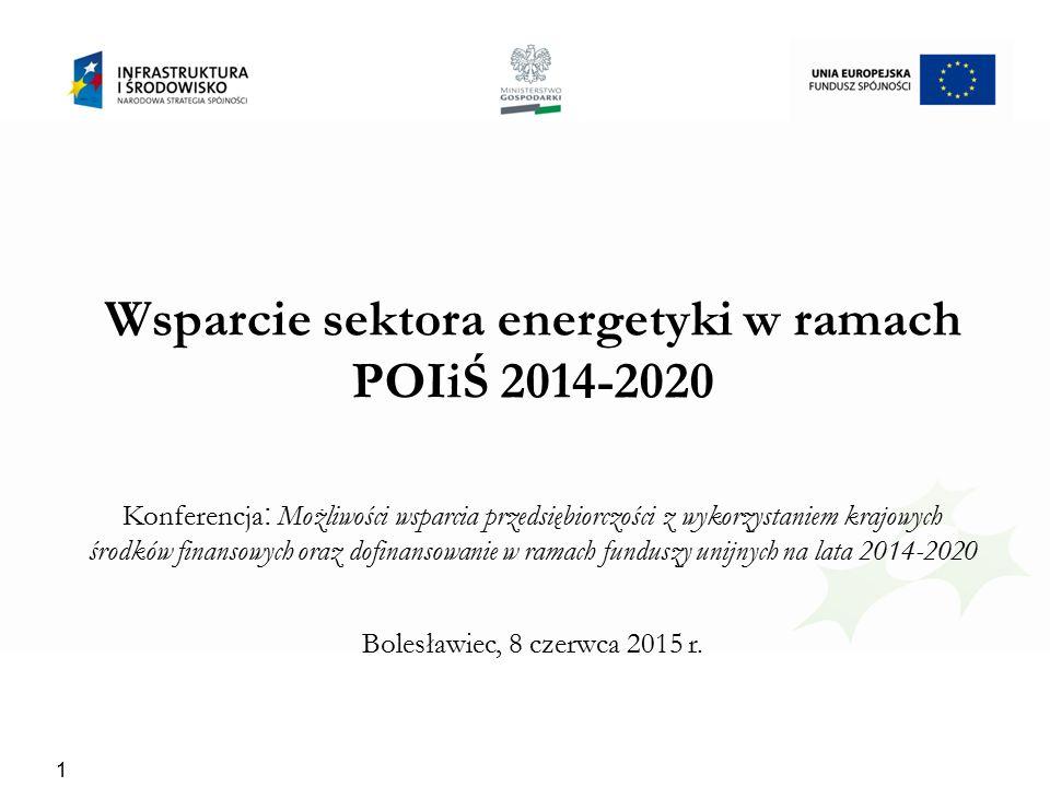 Wsparcie sektora energetyki w ramach POIiŚ 2014-2020