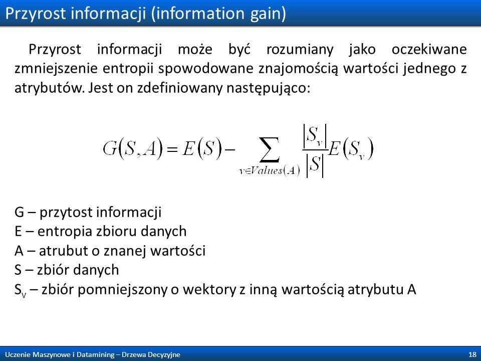 Przyrost informacji (information gain)