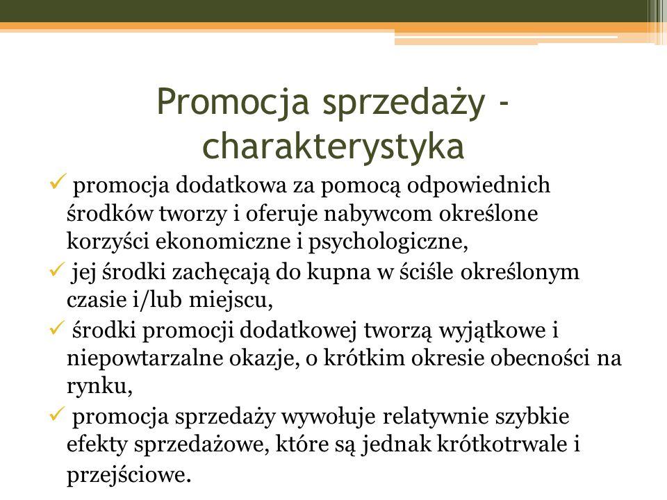 Promocja sprzedaży - charakterystyka