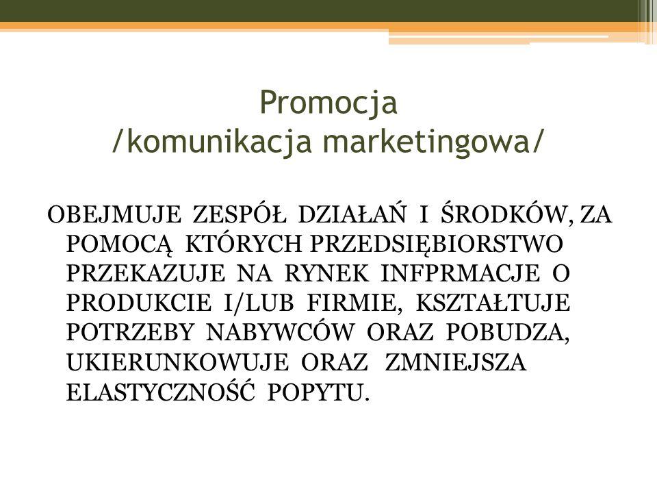 Promocja /komunikacja marketingowa/