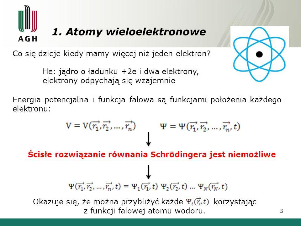 1. Atomy wieloelektronowe