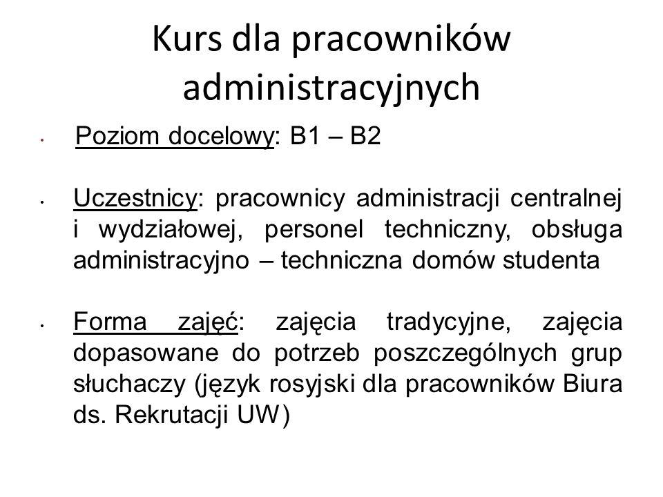 Kurs dla pracowników administracyjnych