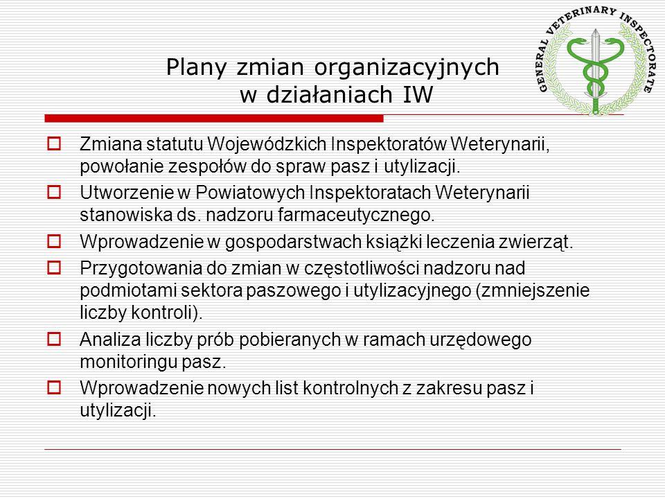 Plany zmian organizacyjnych w działaniach IW