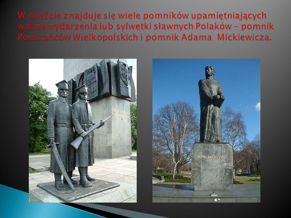 W mieście znajduje się wiele pomników upamiętniających ważne wydarzenia lub sylwetki sławnych Polaków – pomnik Powstańców Wielkopolskich i pomnik Adama Mickiewicza.
