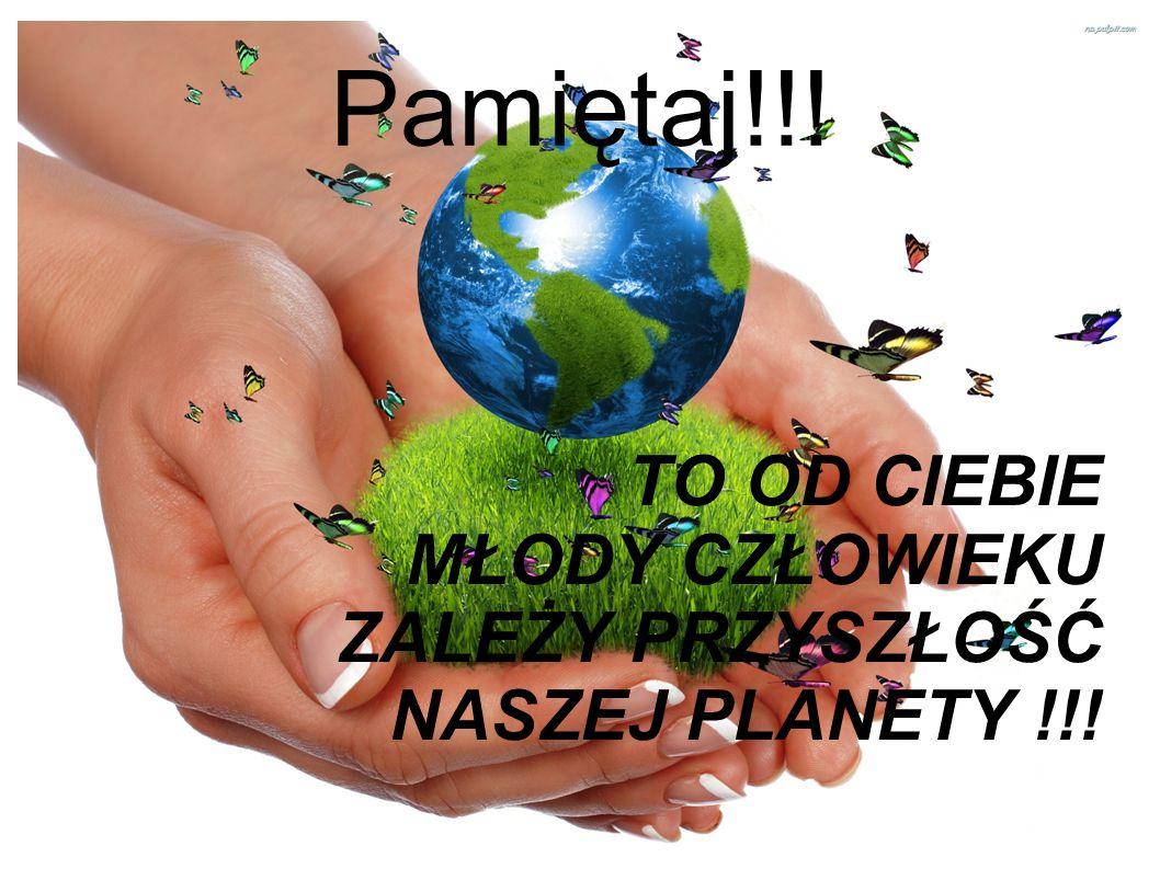 Pamiętaj!!! TO OD CIEBIE MŁODY CZŁOWIEKU ZALEŻY PRZYSZŁOŚĆ NASZEJ PLANETY !!!