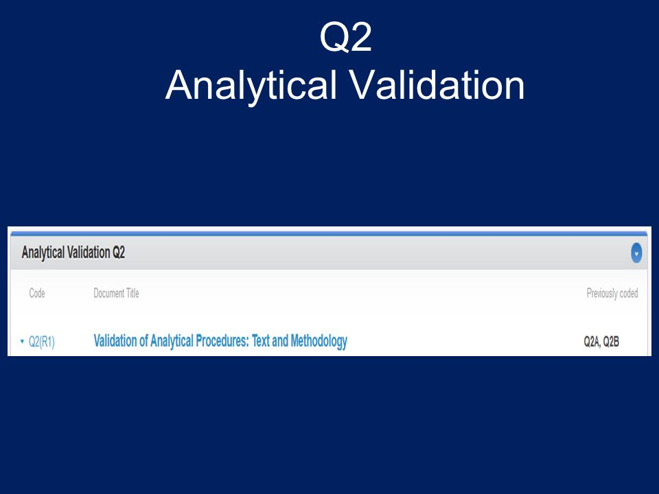 Q2 Analytical Validation
