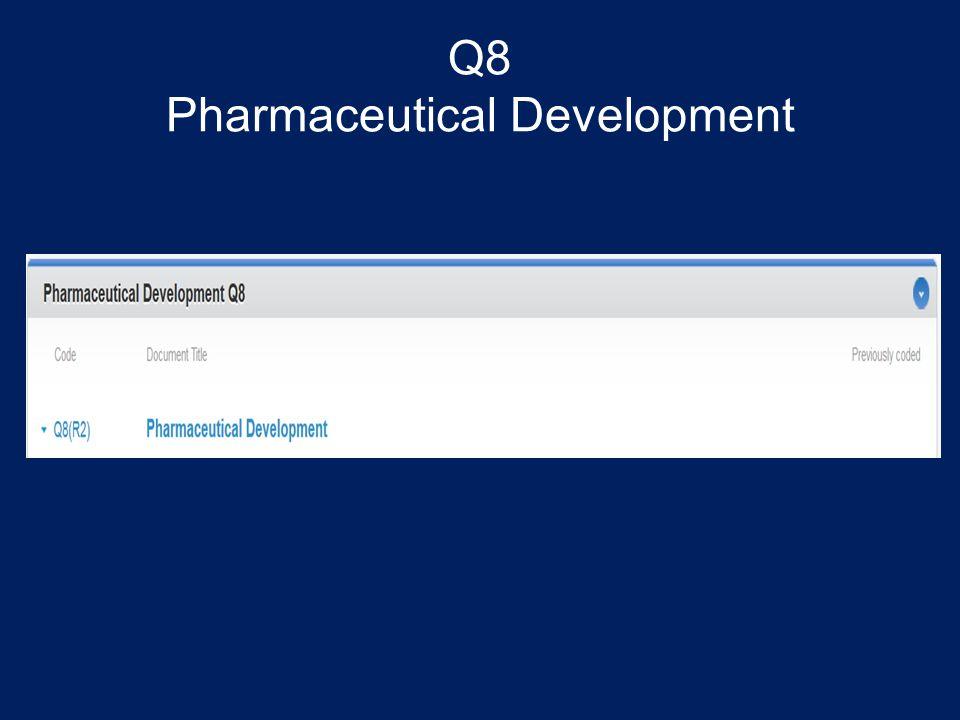 Q8 Pharmaceutical Development