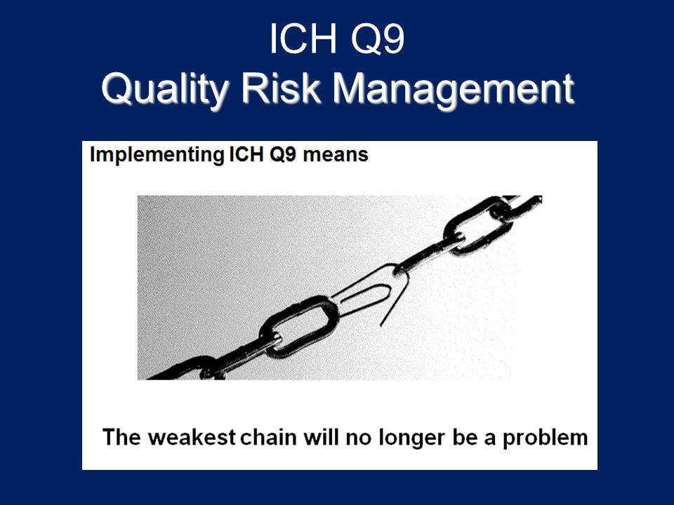 ICH Q9 Quality Risk Management