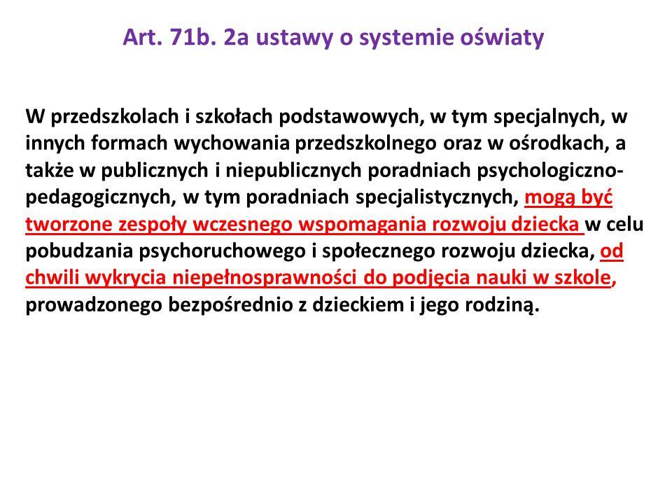 Art. 71b. 2a ustawy o systemie oświaty