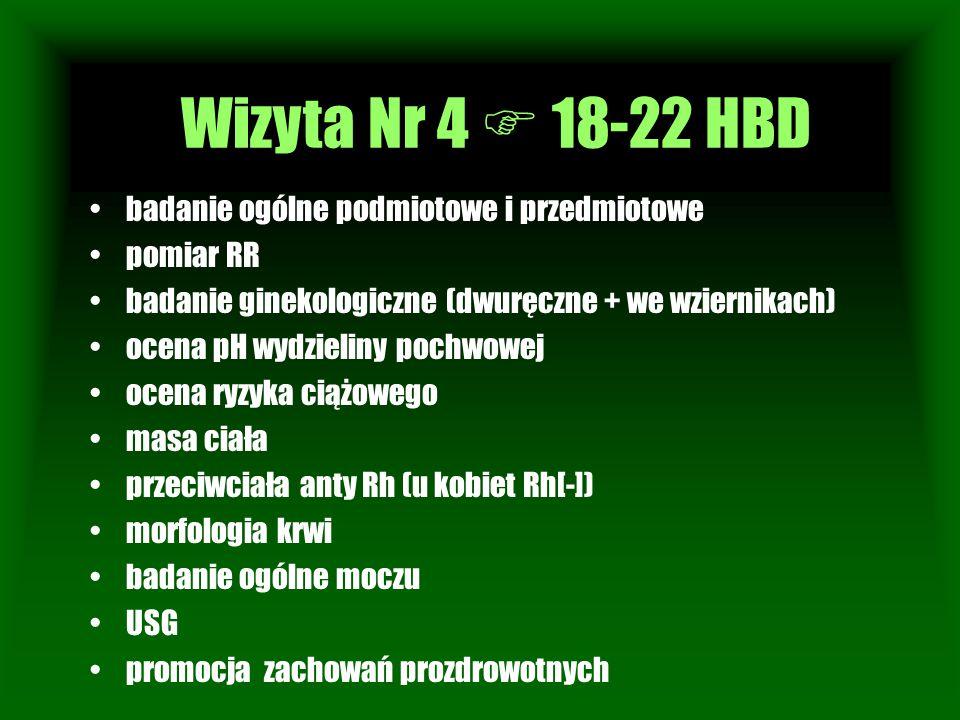 Wizyta Nr 4  18-22 HBD Wizyta Nr 1