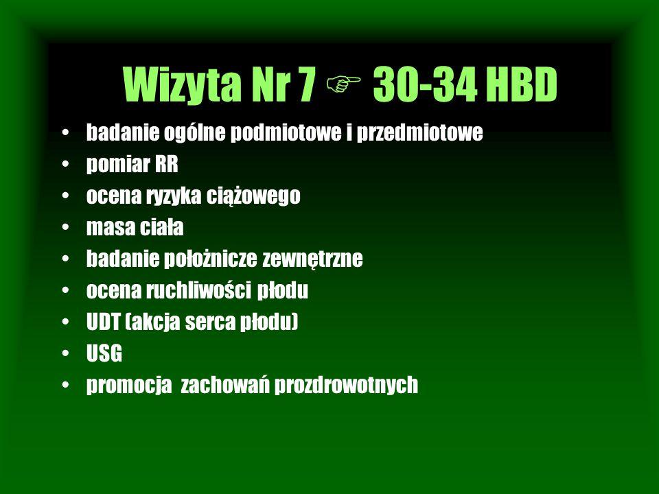 Wizyta Nr 7  30-34 HBD Wizyta Nr 1