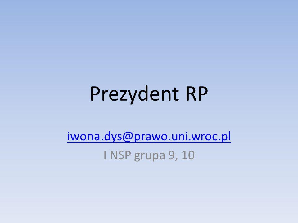 iwona.dys@prawo.uni.wroc.pl I NSP grupa 9, 10