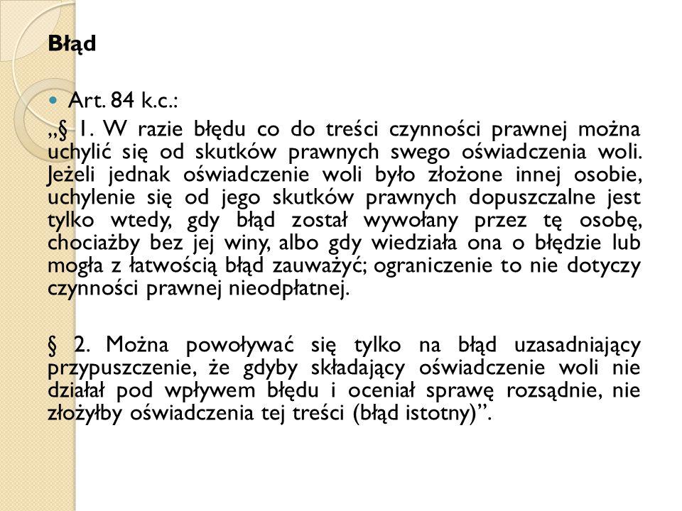 Błąd Art. 84 k.c.: