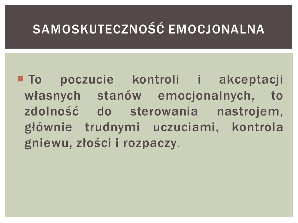 SAMOSKUTECZNOŚĆ EMOCJONALNA