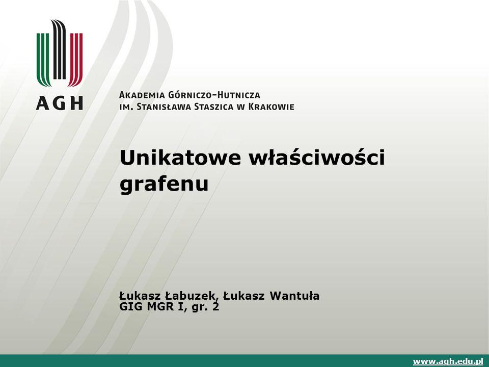 Unikatowe właściwości grafenu