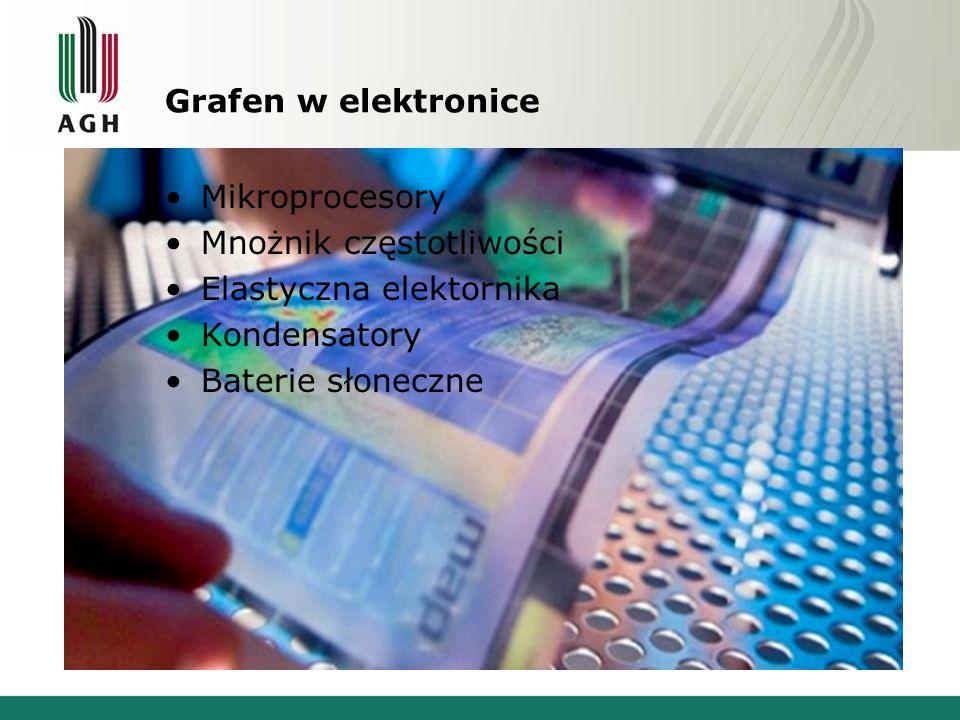 Grafen w elektronice Mikroprocesory. Mnożnik częstotliwości. Elastyczna elektornika. Kondensatory.