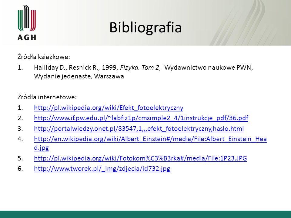 Bibliografia Źródła książkowe: