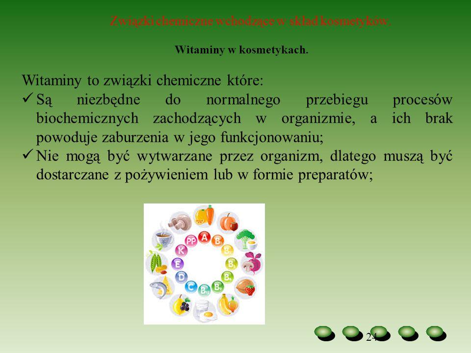 Witaminy to związki chemiczne które: