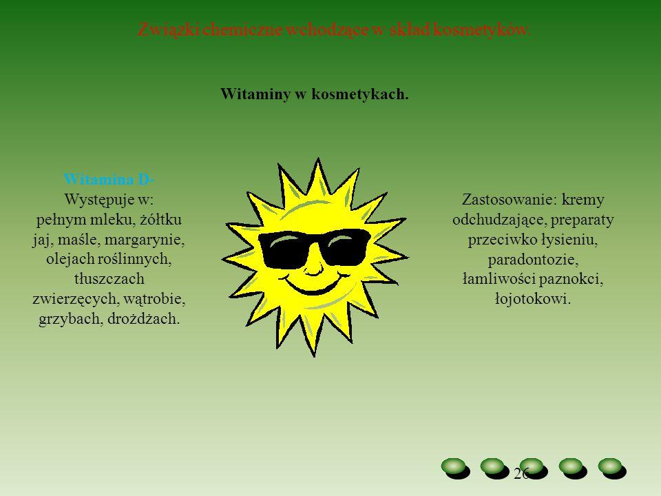 Witamina D- Występuje w: