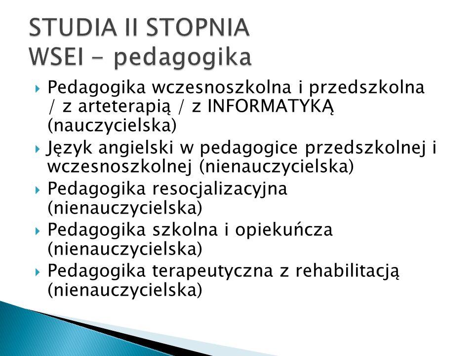 STUDIA II STOPNIA WSEI - pedagogika
