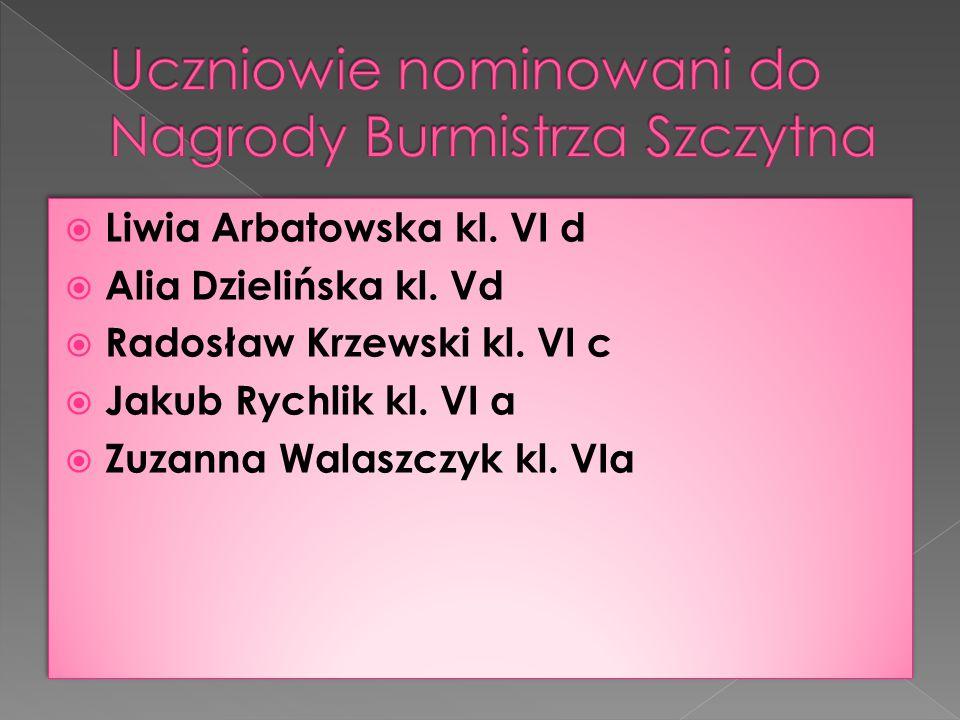 Uczniowie nominowani do Nagrody Burmistrza Szczytna